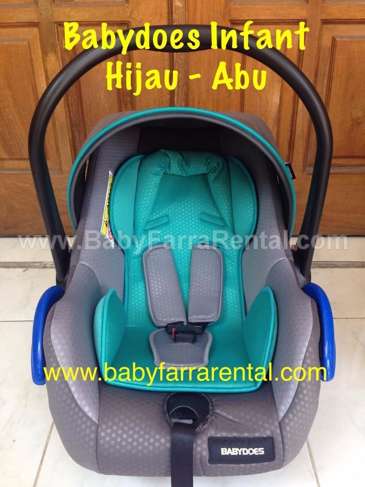 BABYDOES Infant Car Seat Hijau-Abu
