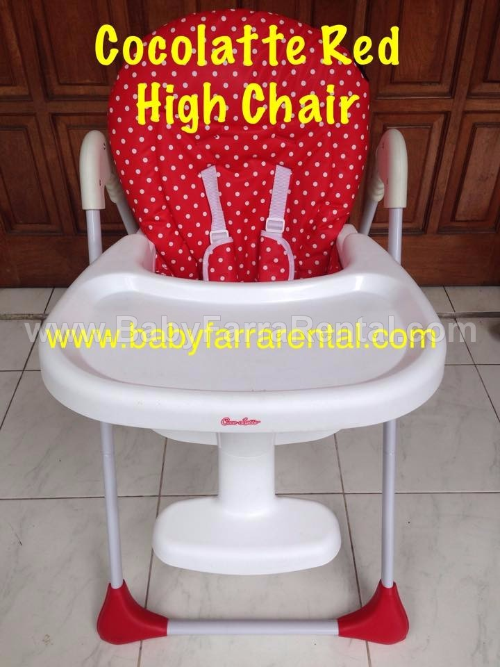 COCOLATTE Red High Chair